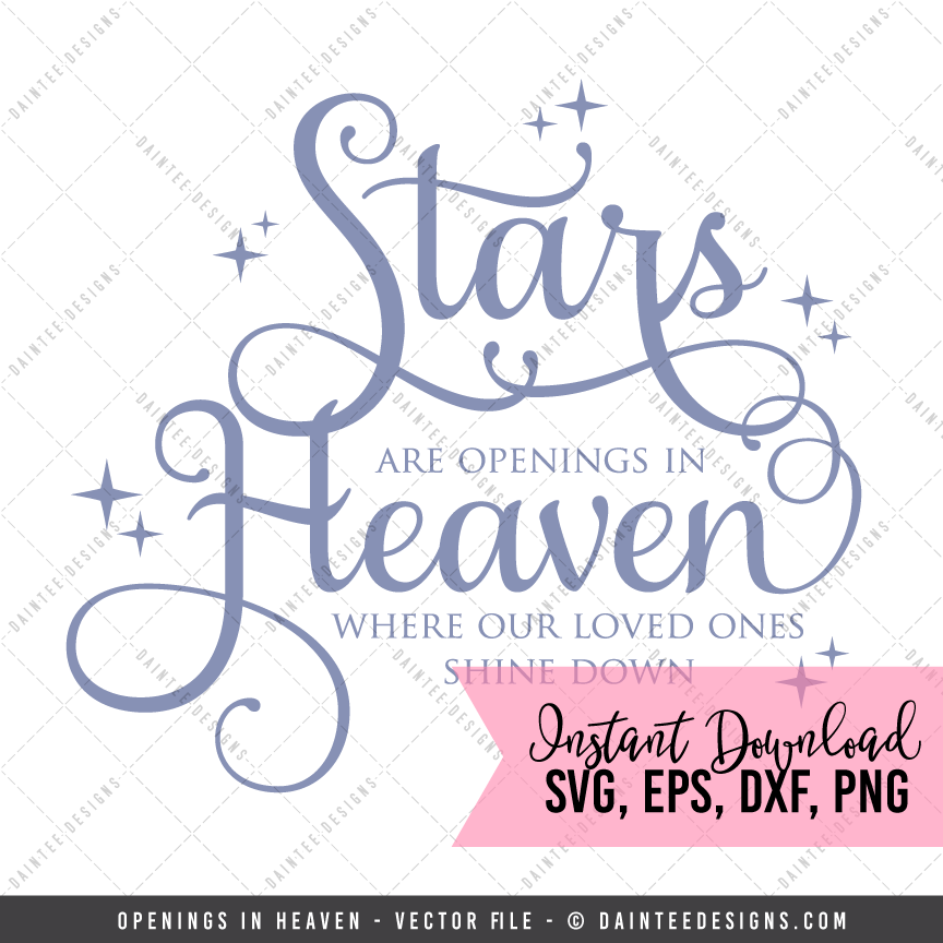 Christmas In Heaven Svg.Openings In Heaven Svg Dxf Eps Digital Cutting File