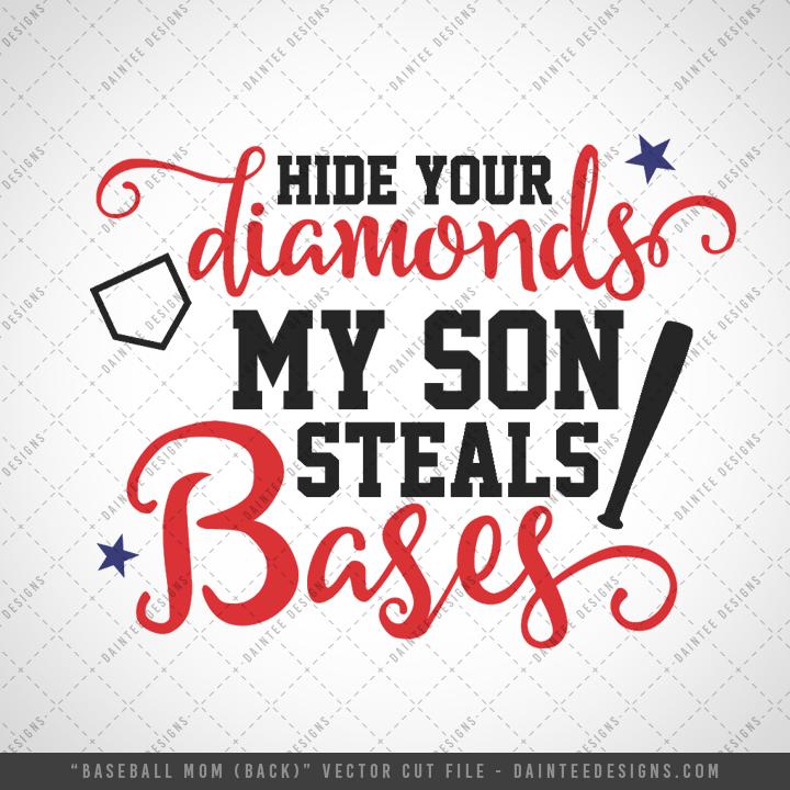 Proud Baseball Mom Svg Dxf Eps Digital Cutting File