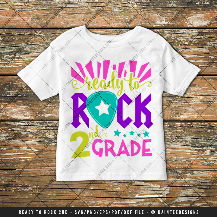 Ready To Rock 2nd Grade Svg Dxf Eps Digital Cutting