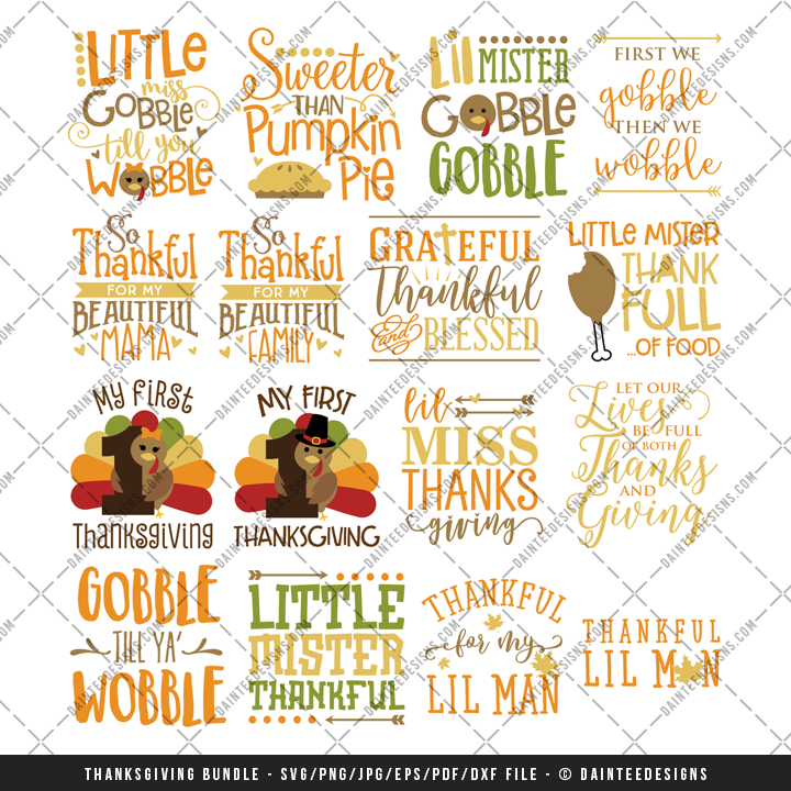 23+ Thanksgiving Bundle: 46 Thanksgiving Quotes In Svg, Dxf, Cdr, Eps, Ai, Jpg, Pdf And Png Formats Image