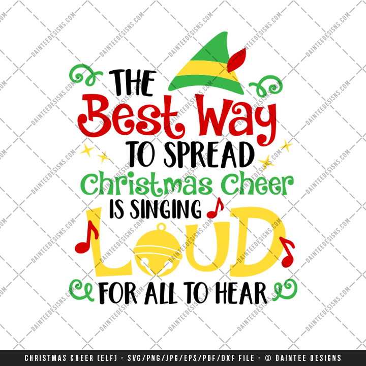 Christmas Cheer.Christmas Cheer Elf Svg Dxf Eps Digital Cutting File