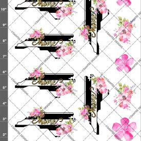 NC Home Stripe Floral Waterslide Sheet