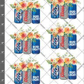 Beer Mix Flowers Waterslide Decal