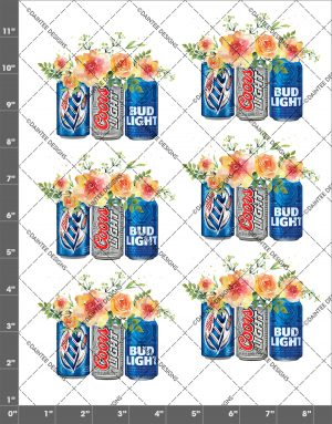 Beer Mix Flowers Waterslide Decal