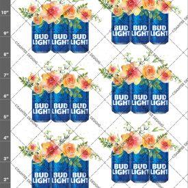 Bud Light Flowers Waterslide Decal