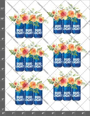 Bud Light Flowers Waterslide Decal