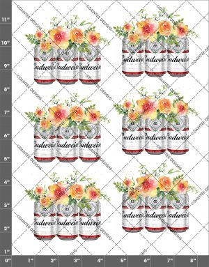 Budweiser Flowers Waterslide Decal