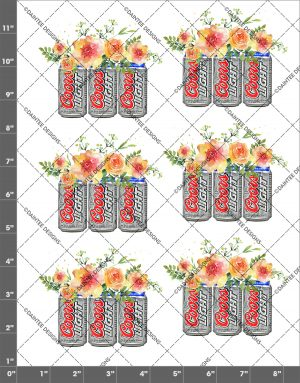 Coors Light Flowers Waterslide Decal