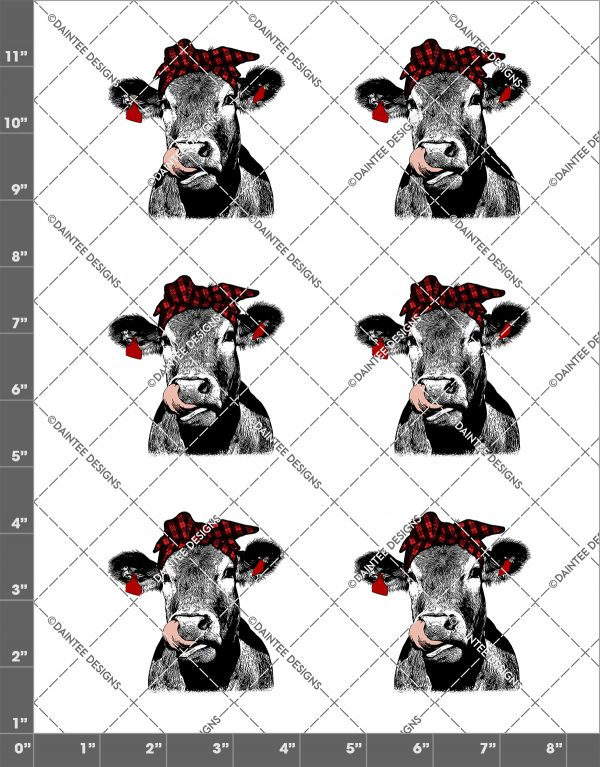 Cow Lick Plaid Bandanna Waterslide Sheet