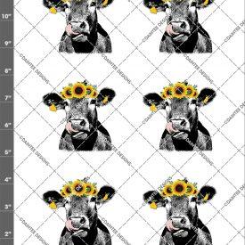 Cow Lick Sunflower Waterslide Sheet