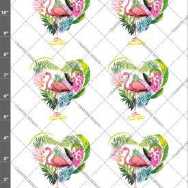 Flamingo Heart Waterslide Sheet
