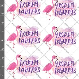Flocking Fabulous Flamingo Waterslide Sheet