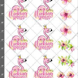 Flocking Spoiled Flamingo Waterslide Sheet