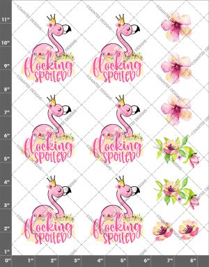Flocking Spoiled Flamingo Waterslide Sheet