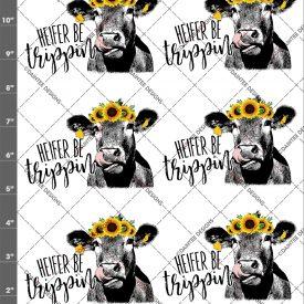 Heifer (Singular) Be Trippin Sunflower Cow Lick 2 Waterslide Sheet