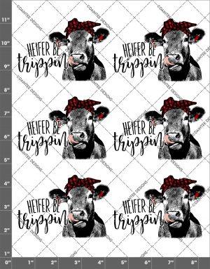 Heifer Be Trippin Bandanna Waterslide Sheet