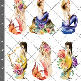 Watercolor Mermaid Mix 2 Waterslide