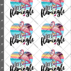 Let's Flamingle Wateslide Sheet