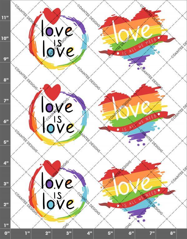 Love is Love Pride Waterslide