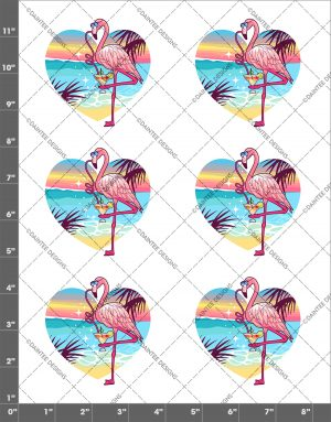 Summer Flamingo Waterslide Sheet