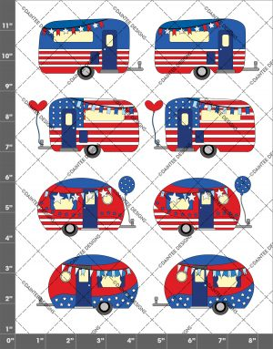 Patriotic Camper Waterslide