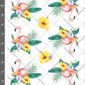 Tropical Watercolor Flamingo Waterslide Sheet